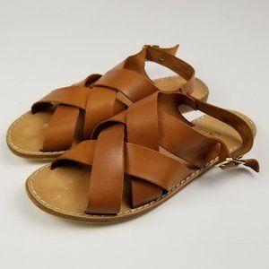 Mariella Tan Leather Women's Sandals Size 7.5